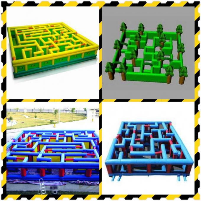 Outdoor Inflatable Maze Games For Outdoor Amusement Park Games