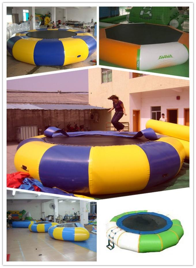 Large Inflatable Water Sports , Aquapark Platinum Rebound Bouncer With I-Log And Slide