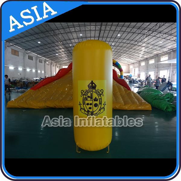 Inflatable Swim Buoys , Triangular Shape Marker Floating For Advertising