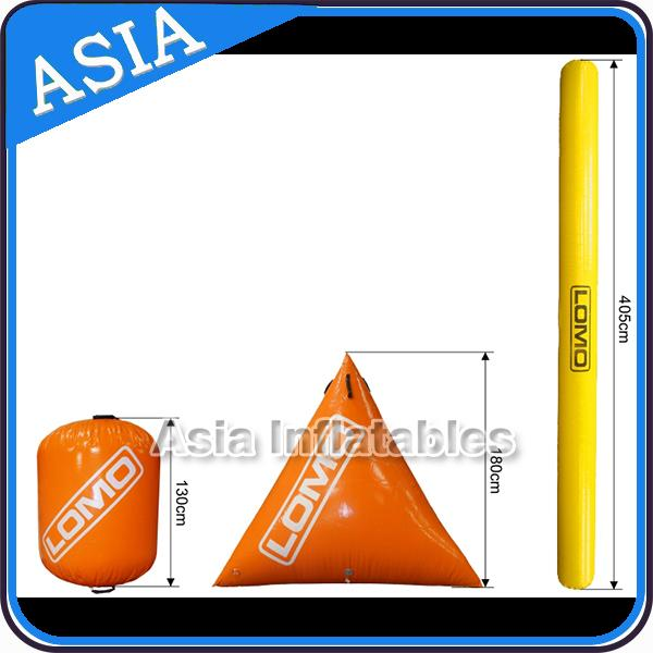 Inflatable Promoting Buoy In Pyramid Shape For Ocean Or Lake Advertising