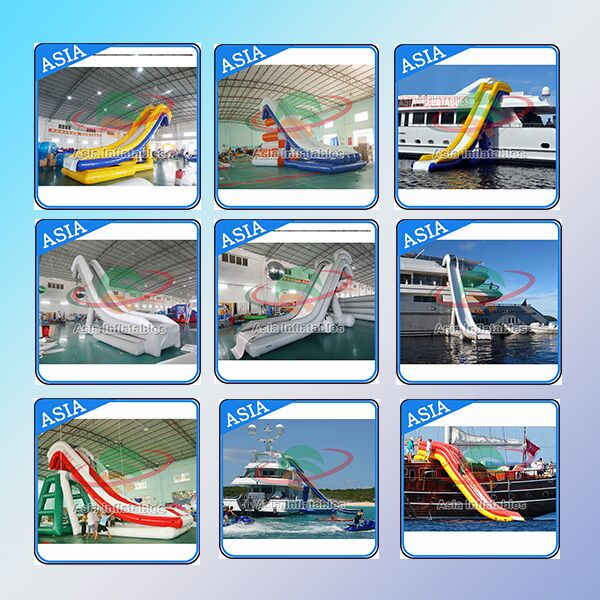 Inflatable Water Floating Slide For Yacht, Inflatable Boat For Water Games