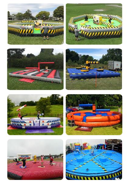 Hot Sale Inflatable Meltdown Game ,Inflatable Eliminator With Rotative Machine For Sport Game