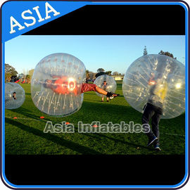 Chiny Colorful dot inflatable human bubble soccer , Body zorbing ball , Outdoor loopyball fabryka