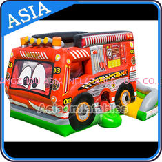 Chiny Outdoor Inflatable Cartoon Bus Jumping Castle For Children Party Games fabryka