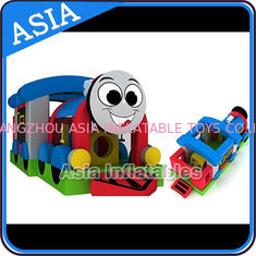 Chiny Commercial Inflatable Bouncer Choo Choo Train Bouncy House For Kids fabryka
