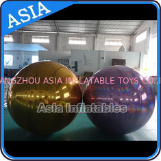 Chiny Inflatable Helium Advertising Mirror Balloon / Giant Inflatable Mirror Ball Ground fabryka