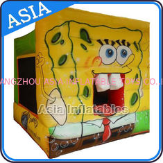 Chiny Lovely Inflatable Sponge Bob Cartoon Bouncy Castle For Party Hire Games fabryka