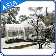 Waterproof Inflatable Snow Globe For Advertisement With Fake Snow