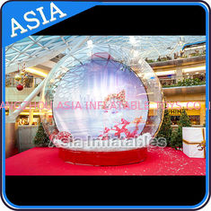 CE Approval X - Mas Christmas Inflatable Snow Globe For Photo Taking
