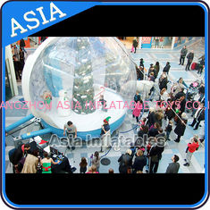 Chiny Christmas Inflatable Snow Globe Inflatable Bubble Tent Water And Fire Proof fabryka