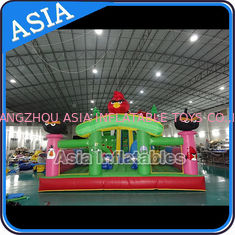 Chiny Inflatable Angry Bird Bouncer Slide Palyground / Inflatable Angry Bird Jumping Bouner Castle Combo fabryka