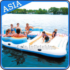 0.9mm Durable PVC Tarpaulin Inflatable Island Floating Lounge