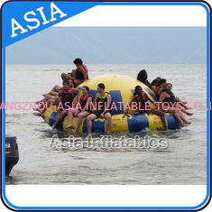 Chiny Hot Welding Yellow 12 Person Inflatable Disco Boat For Towable Water Games fabryka