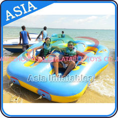 Chiny Sealed Towable 4 Person Inflatable Boats Yellow / Blue Rolling Donut Boat fabryka