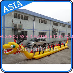 Chiny Yellow Dragon Banana Shaped Inflatable Boats 12 Person Water Sport Games For Adult fabryka
