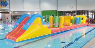 Chiny Indoor Swimming Pool Games, Inflatable Obstacle Course For Sale fabryka