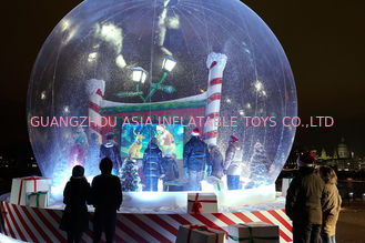 Transparent Inflatable Snow Globe For Product Promotion