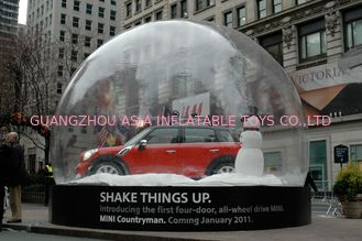 Merry Christmas Inflatable Snow Globe / Bubble Tent For Car Display