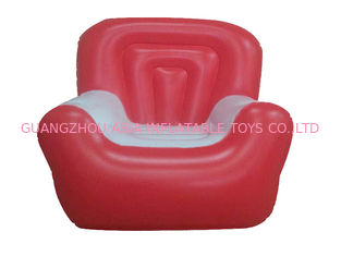 Chiny Red And White 0.6mm Pvc Tarpaulin Inflatable Air Sofa With Single Seat fabryka