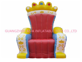 Chiny Hot Selling Replicas Inflatable Advertising King Sofa , Inflatable King Chair fabryka