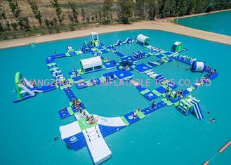 Chiny Open Water Inflatable Aqutic Sports Park With 0.9mm PVC Tarpaulin fabryka