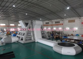 Chiny Amercian Customized Water Park Combo Inflatable , Inflatable Big Slide Park fabryka