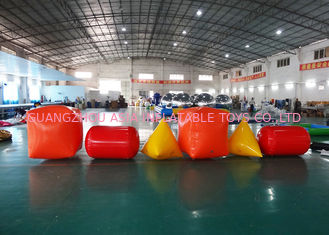 Chiny Triangle ,  Cube Shape and Cylinder shape of Inflatable Buoy On Sale For Water Games fabryka