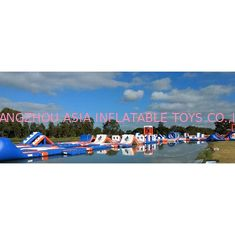 Chiny 1500D Waterproof 250 People Inflatable Wipeout Course With TUV Certificate fabryka