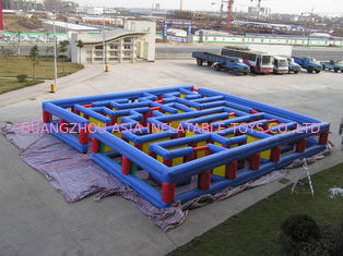 Chiny Inflatable Tunnel Maze Game, Inflatable Maze Field For Chilren fabryka