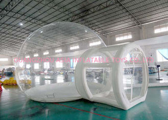 Chiny Half Transparent Inflatable Dome Tent / Bubble Tent For Lawn Camping fabryka