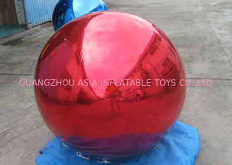 Chiny Helium Advertising Inflatables Red Mirror Balloon For Building Decoration fabryka