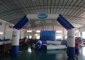 Chiny Custom Welding White Blue Inflatable Entrance Arch With Logo Print For Promotion fabryka