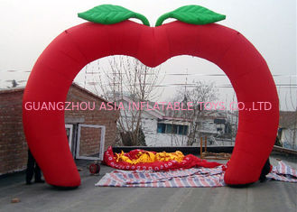 Chiny Custom New Design Welcome Gate Inflatable Arch, Inflatable Red Apple Archway fabryka
