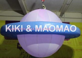 Chiny Inflatable UFO Saturn Helium Balloon , Custom PVC Advertising Character Balloon fabryka