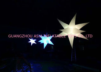 Chiny Bright Inflatable LED Lighting Hanging Christmas Star for sale fabryka