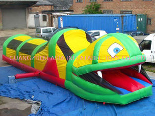 Chiny Inflatable Tunnel Maze , Snake Train Tunnel For School Amusement Equipment fabryka