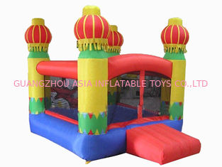 Chiny 3m Yellow Inflatable Amusement Park With Smileface Mini Bouncer fabryka