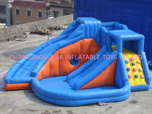 Chiny Pink Inflatable Amusement Park With Mini Princess Bouncer Castle With Slide fabryka