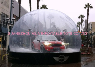 Huge Clear Christmas Snow Globe / Bubble Tent Product Show Case for Auto Display