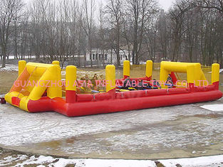 Chiny Child Play Pvc Tarpaulin Inflatable Soccer Field / Sports Games Football Land Oem fabryka