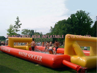 Chiny Adult Hot Welding Inflatable Soap Soccer Field / Interactive Inflatable Water Games fabryka