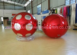 Chiny Stage Customized Advertising Fireproof Inflatable Mirror Ball For Christmas Decoration fabryka