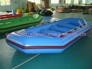 Chiny 3.2m Long PVC tarpaulin Blue Color Inflatable Boat for 8 Persons fabryka