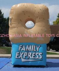 Chiny Gaint Inflatable Bottles / Family Express Donut Inflatable Football Toss fabryka