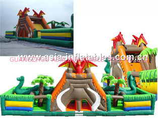 Giant Inflatable Fairground In Caribbean Pirate Ship Design For Kids Amusement Park