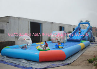 Chiny Customize Made Kids Inflatable Pool Water Park with Slide for Fun fabryka