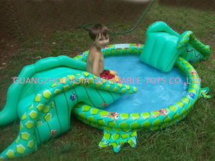 Chiny Small Water Park Kids Inflatable Pool with Animal for Backyard Play fabryka