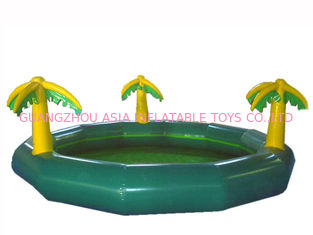 Chiny Homeusing Water Park Kids Inflatable Pool with Plam Trees fabryka