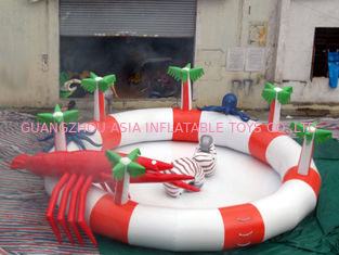 Chiny Sea Animals Theme Water Park Kids Inflatable Pool for Homeusing  fabryka