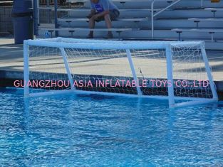 Chiny Pure White PVC Inflatable Water Sports , Pool Floating Water Polo Goals fabryka